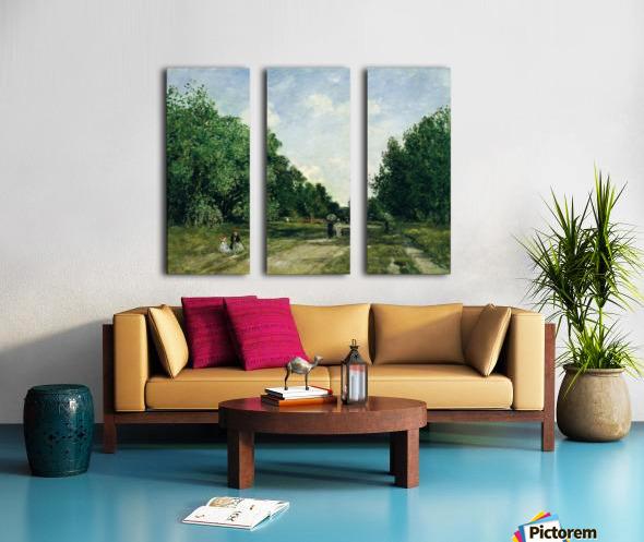Parc Cordier in Trouville Split Canvas print
