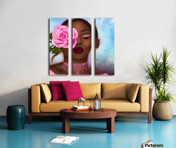 kissed by a rose Split Canvas print