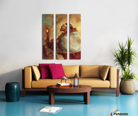 Heiliger in Verzuckung Split Canvas print