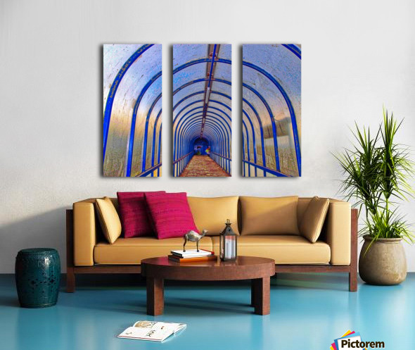 Blue perspective Split Canvas print