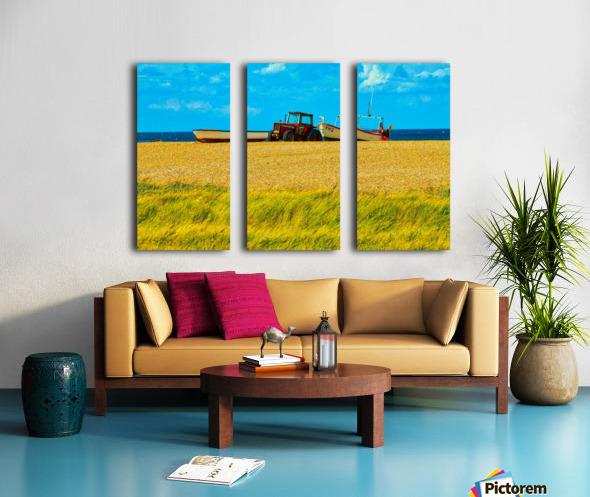 Beach Tractor Split Canvas print