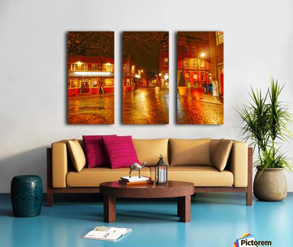 Wet streets by night Split Canvas print