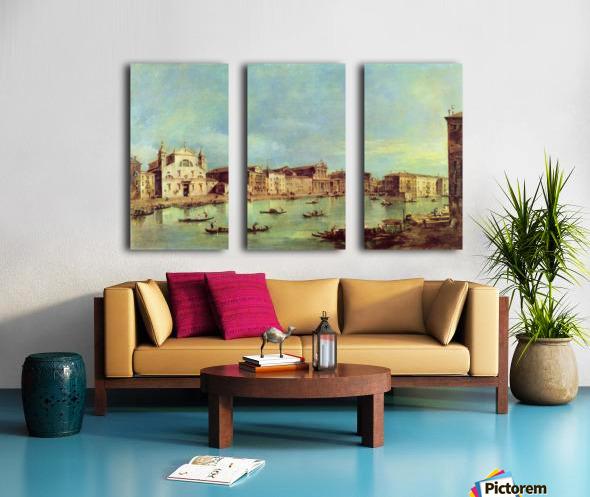 Vedute des Canale Grande zwischen Santa Lucia und der Scalzi Split Canvas print