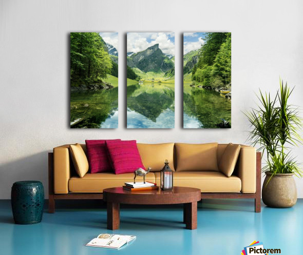 Tranquil scene of seealpsee lake  Split Canvas print