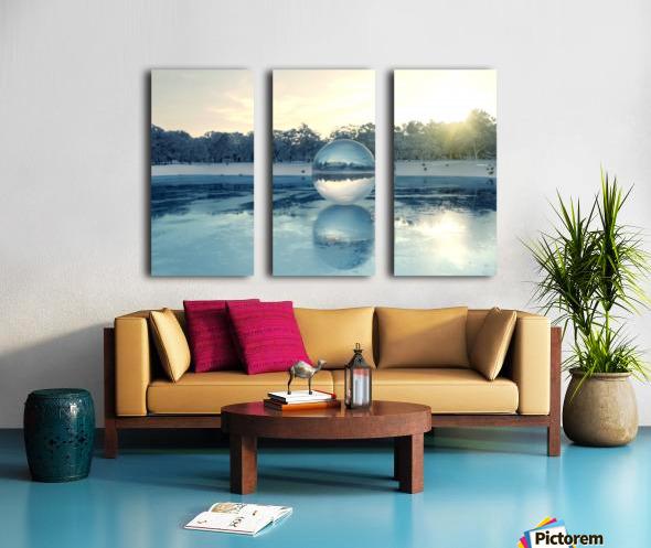 crystal ball on frozen lake Split Canvas print