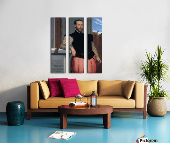 Portrait of Prospero Alessandri Split Canvas print