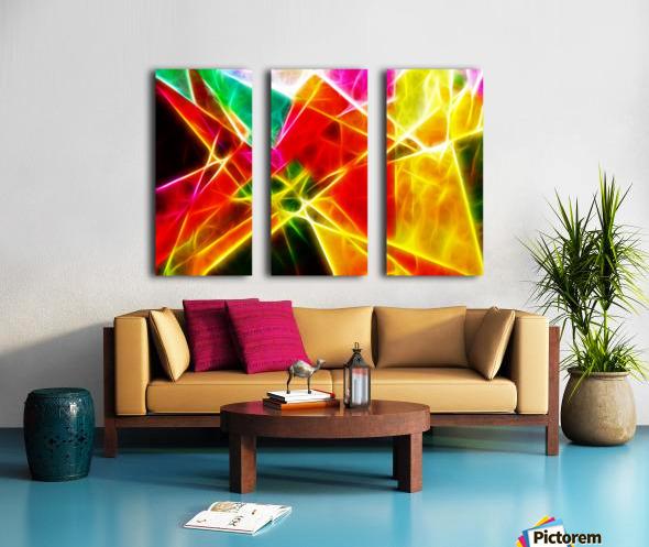 Geometric Colors Split Canvas print