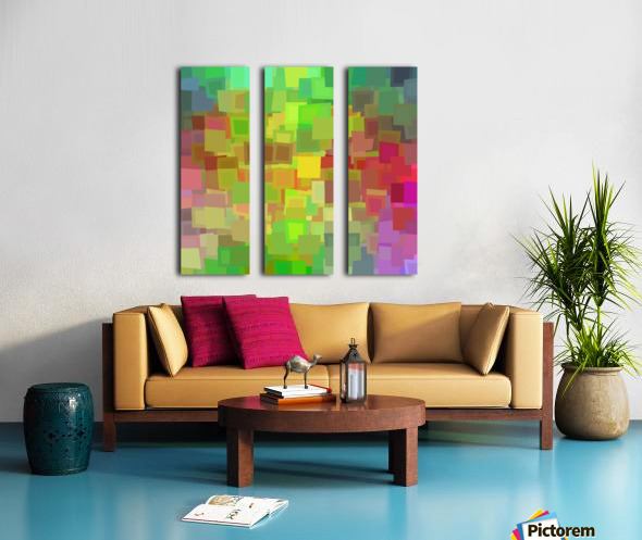 Vivid Squares Split Canvas print