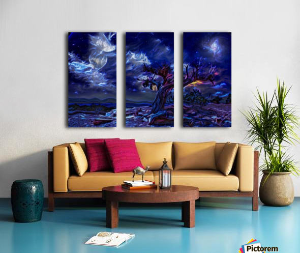 Night Landscape Split Canvas print