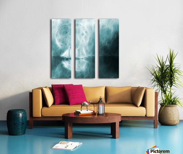 Moonlight Cruise Split Canvas print