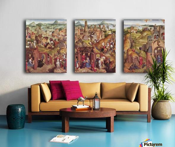Die sieben Freuden Mariens Split Canvas print
