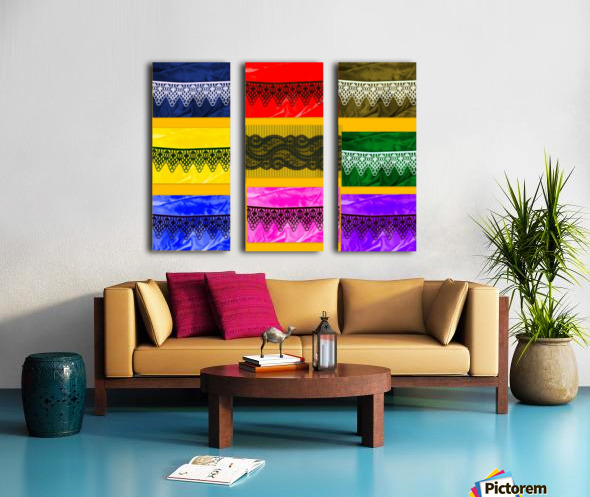 LACE COLLAGE Split Canvas print