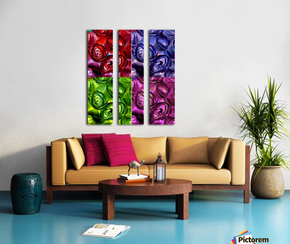 PSYCHEDELIC ROSES  Split Canvas print