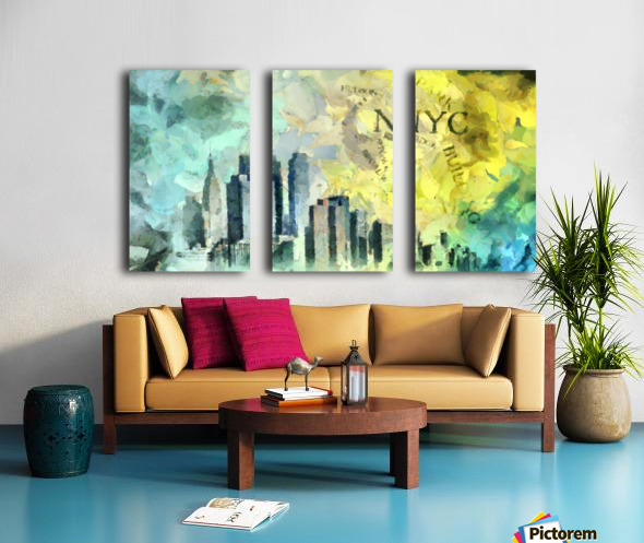 Manhattan Split Canvas print