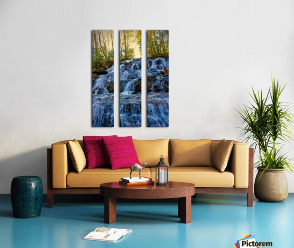 Waterfall in the Woods Split Canvas print