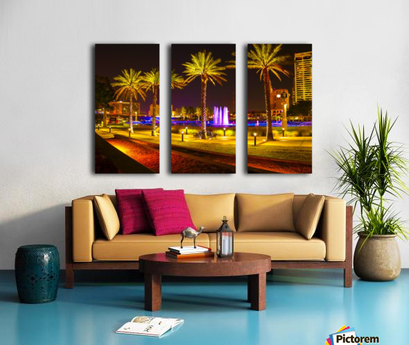 Downtown Palms Split Canvas print