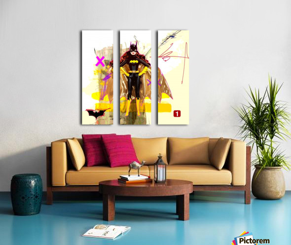 BatBarbie Split Canvas print