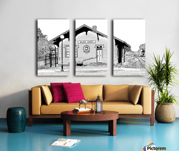 Catch a Train To Yesterday Split Canvas print