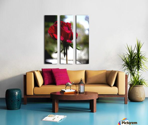 Posterized Rose  Split Canvas print