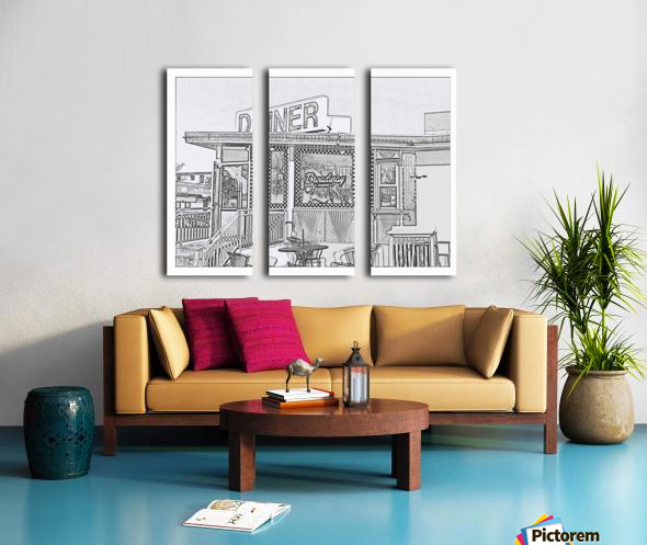 Broadway Diner Split Canvas print
