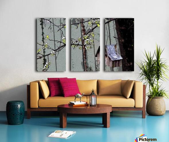 Birds & Blooms Split Canvas print