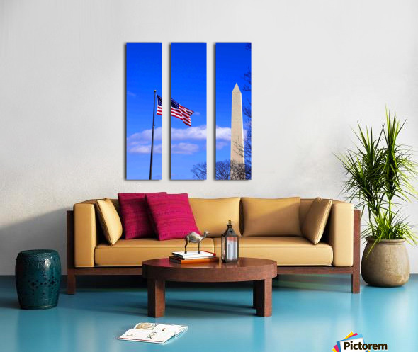 Flag & Washington Monument Split Canvas print
