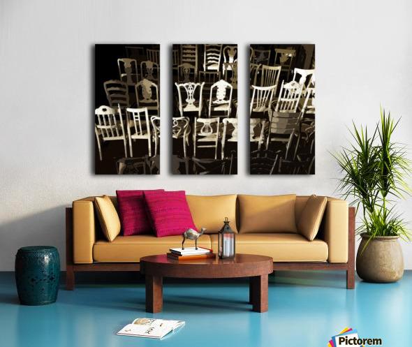 Chairs Split Canvas print