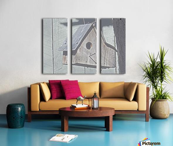 Birdhouse Split Canvas print