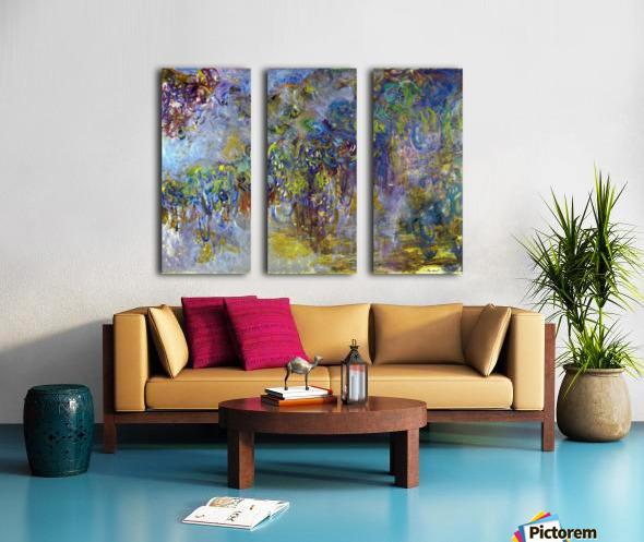 Wisteria -2- by Monet Split Canvas print