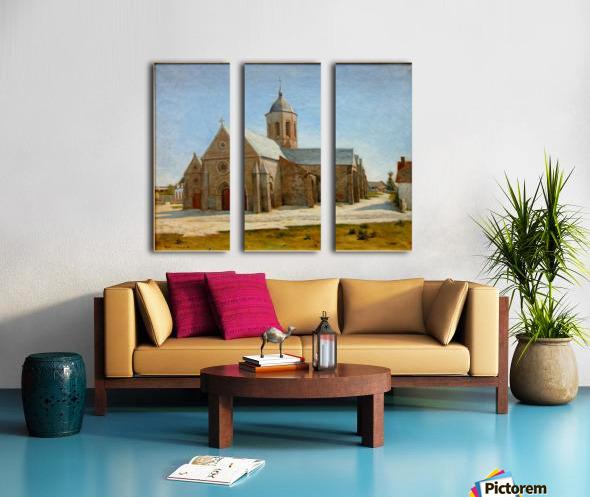 Dunkerque musee BA lesidaner etaple eglise Split Canvas print