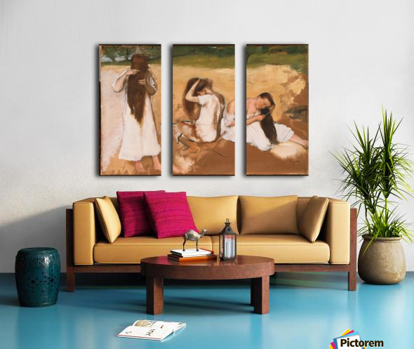 Women Combing Their Hair Split Canvas print