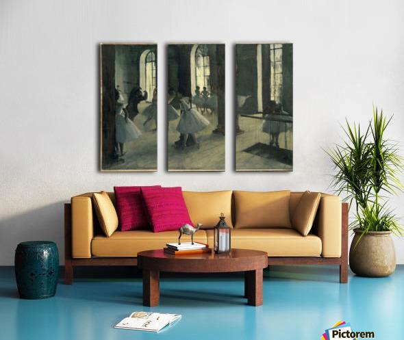 La Repetition au foyer de la danse Split Canvas print