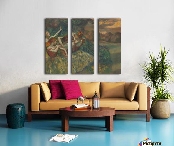 Four Dancers Split Canvas print