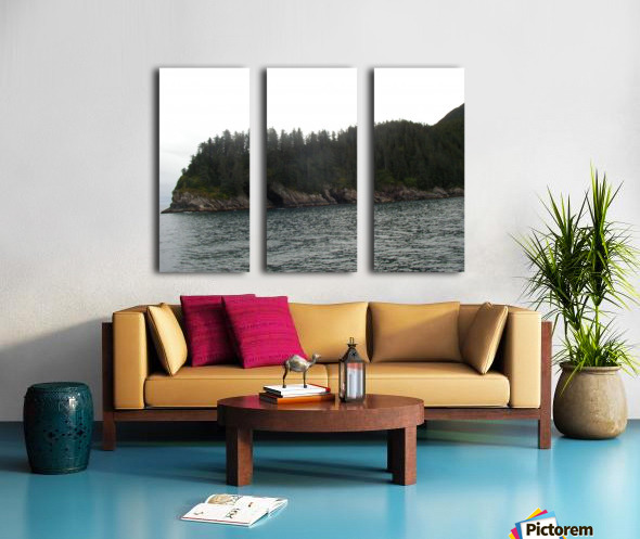 Point with pines Split Canvas print