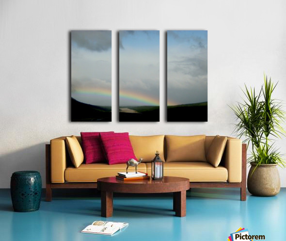 Rainbow at Thousand Smokes Split Canvas print