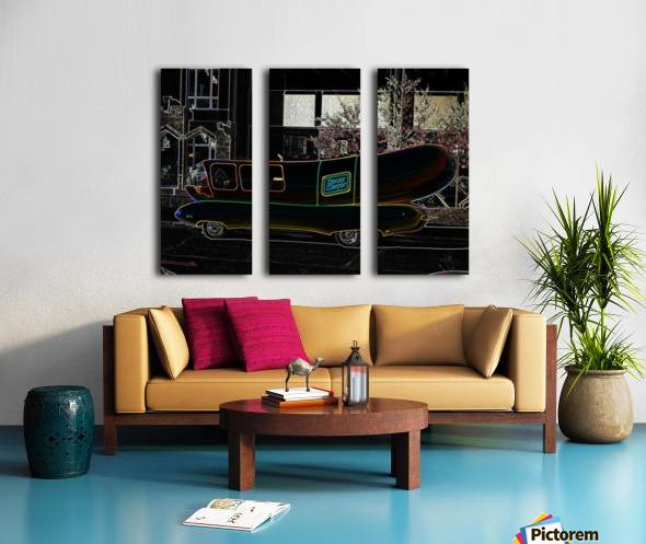 Weinermobile Split Canvas print