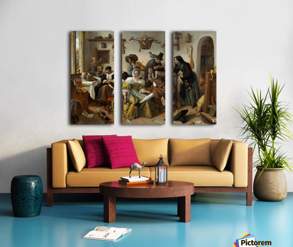 The world turned upside Split Canvas print