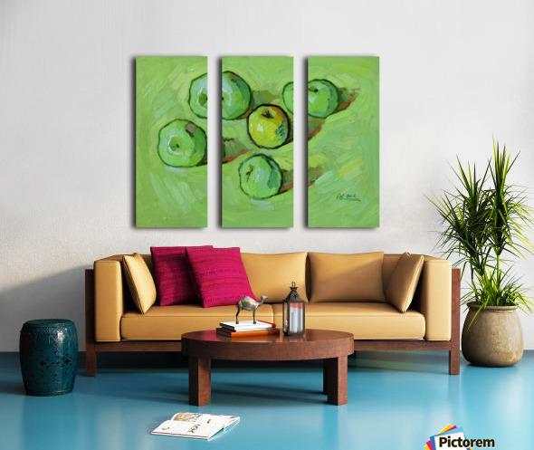 Green Apples Split Canvas print