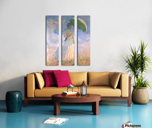 Woman with Parasol Split Canvas print