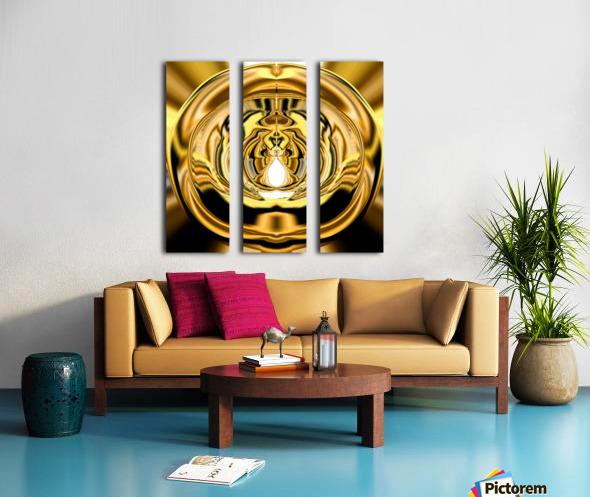 GoldTone3 Split Canvas print