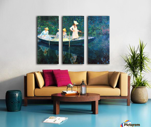 women fishing Split Canvas print