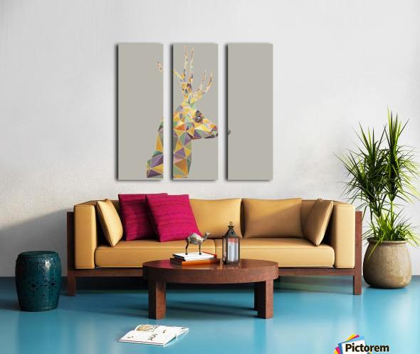 Deer mosaic Split Canvas print