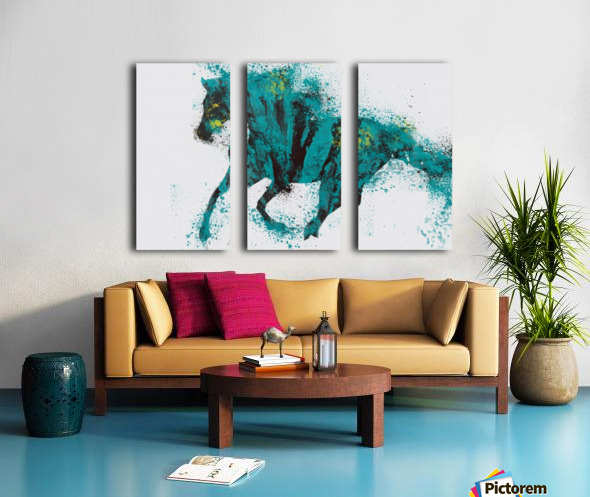 Running Split Canvas print