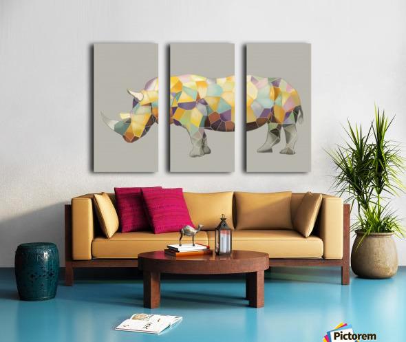 Rhino Mosaic Split Canvas print