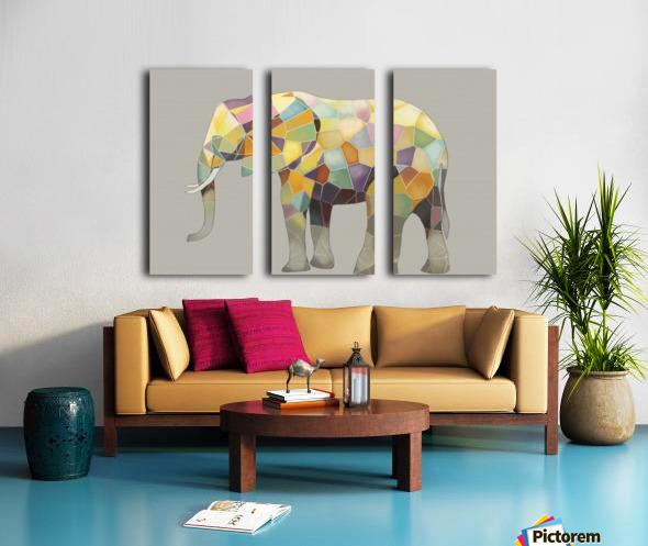 Elephant Mosaic Split Canvas print