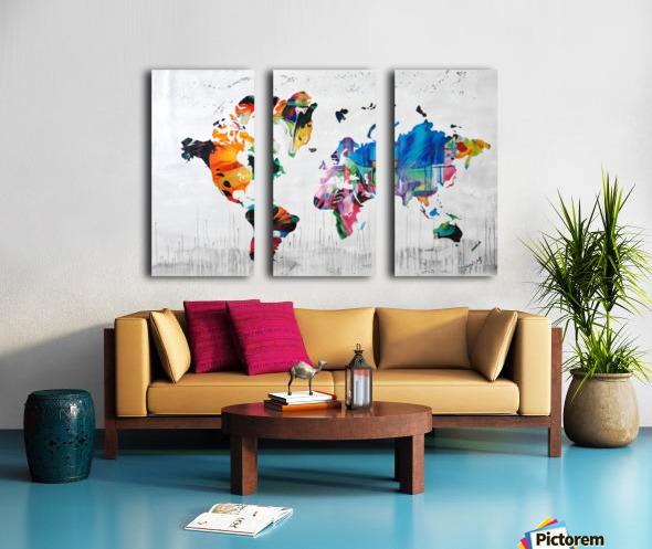 Monde Split Canvas print