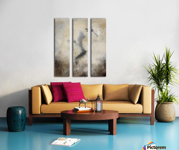 silouhette Split Canvas print