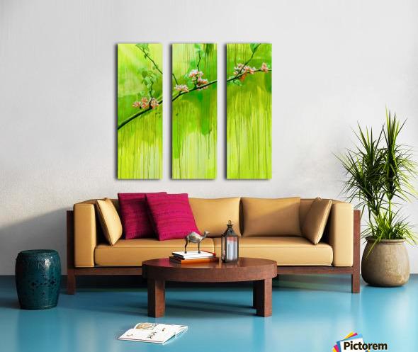 Green Spring Split Canvas print