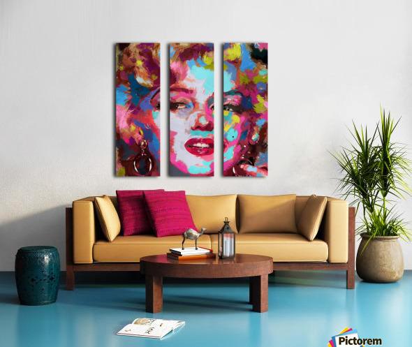 MarilynMonroe Split Canvas print