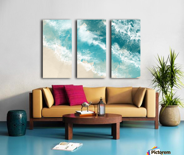 Martinique Split Canvas print